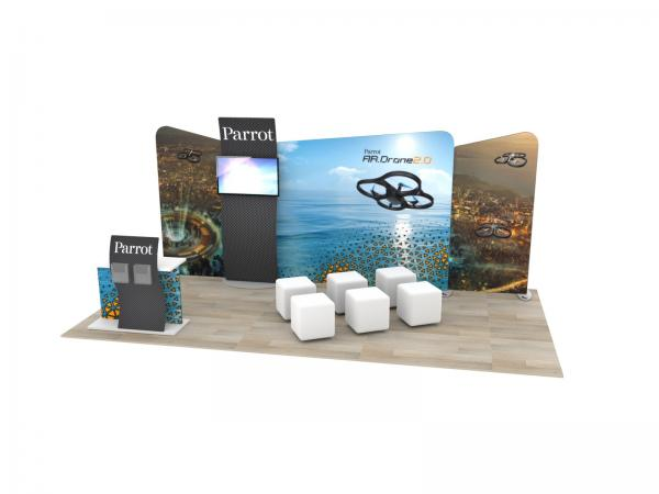 ECO-2120 Sustainable Trade Show Display -- 10 x 20 Version