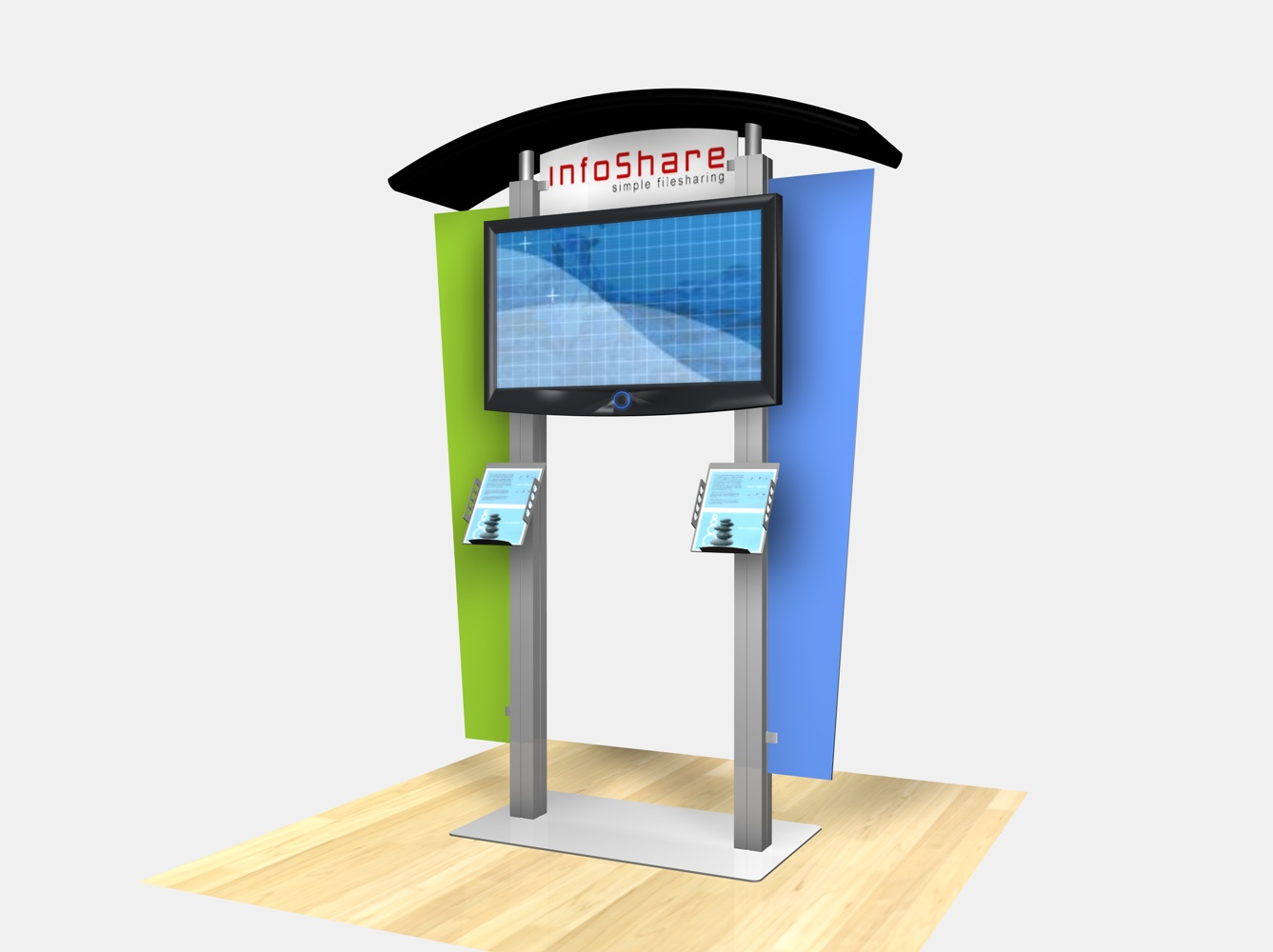 Display Search Reo 1230 Large Monitor Kiosk With Arch